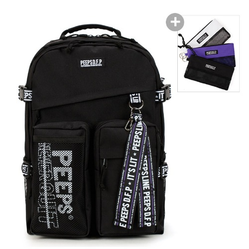 핍스 PEEPS advance backpack(black)