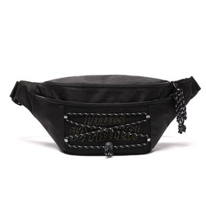 로디스 힙색 NO FRILLS WAIST BAG BLACK/LIME