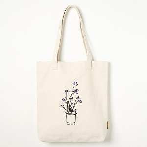 옐로우스톤 에코백 FLOWER POT CANVAS BAG -YS2094IF /IVORY