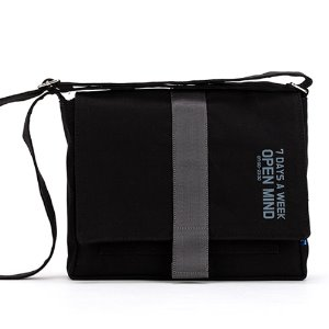[핍스] 미니크로스백 PEEPS open mind mini cross bag(black)