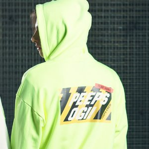[핍스] PEEPS OGI hood zip up(neon green)_핍스 후리스
