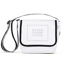 [핍스] 메신저백 PEEPS reflect light mini cross bag(white)