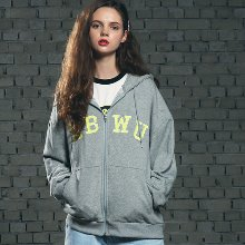 [핍스] PEEPS ABWU hood zip up(grey)_핍스 후리스