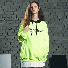 [핍스] PEEPS Mix color hoody(neon green)_핍스 후드티